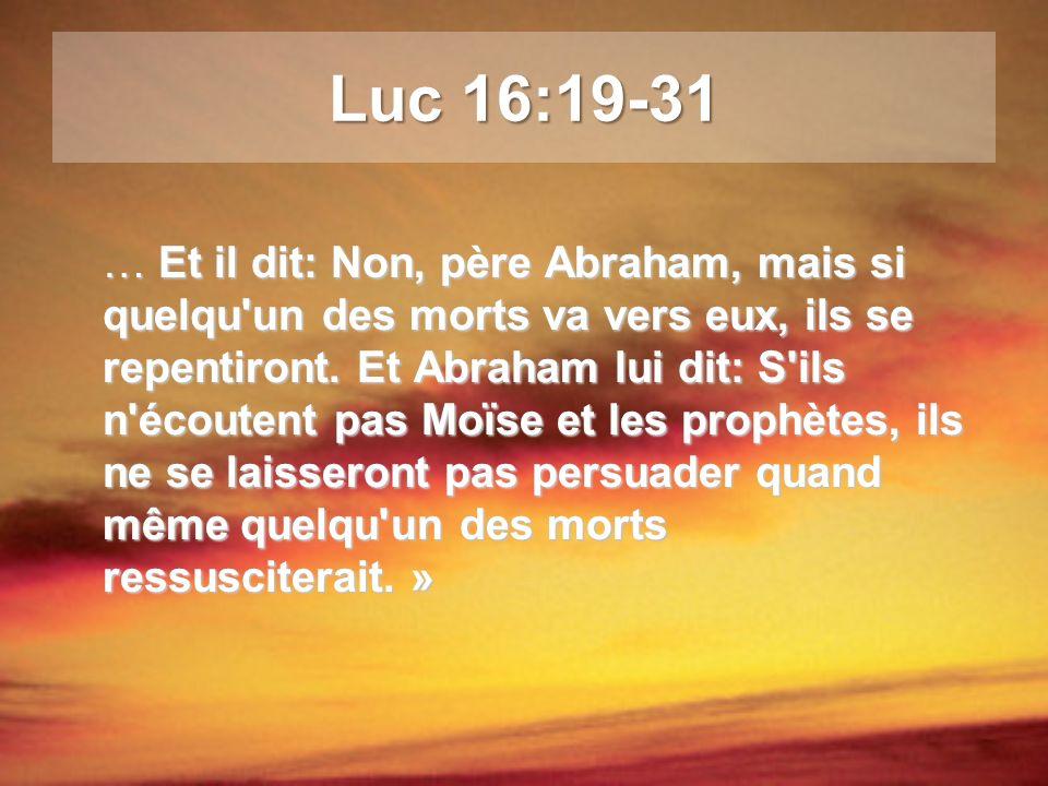 Voici, en effet, ce que nous vous déclarons d après la parole du Seigneur: nous les vivants, restés pour l avènement du Seigneur, nous ne devancerons pas ceux qui sont morts.