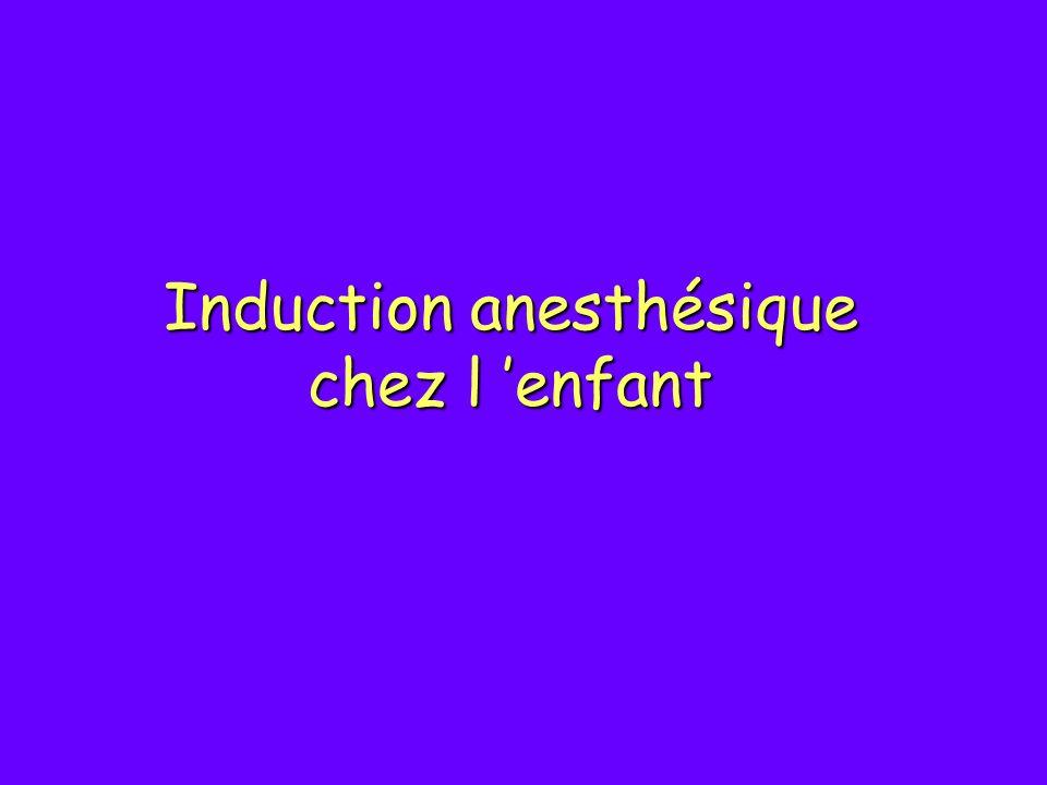 Induction anesthésique chez l enfant
