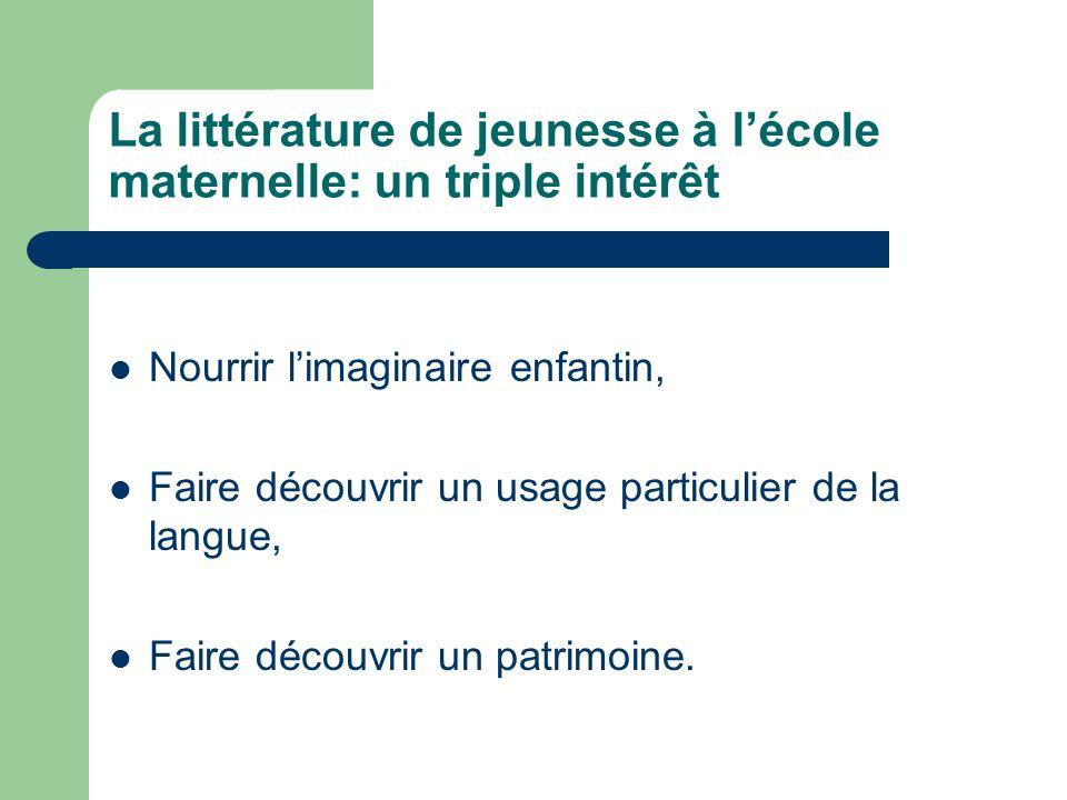 Les éléments de cette présentation sont tirés du document daccompagnement des programmes: « Le langage à lécole maternelle ».