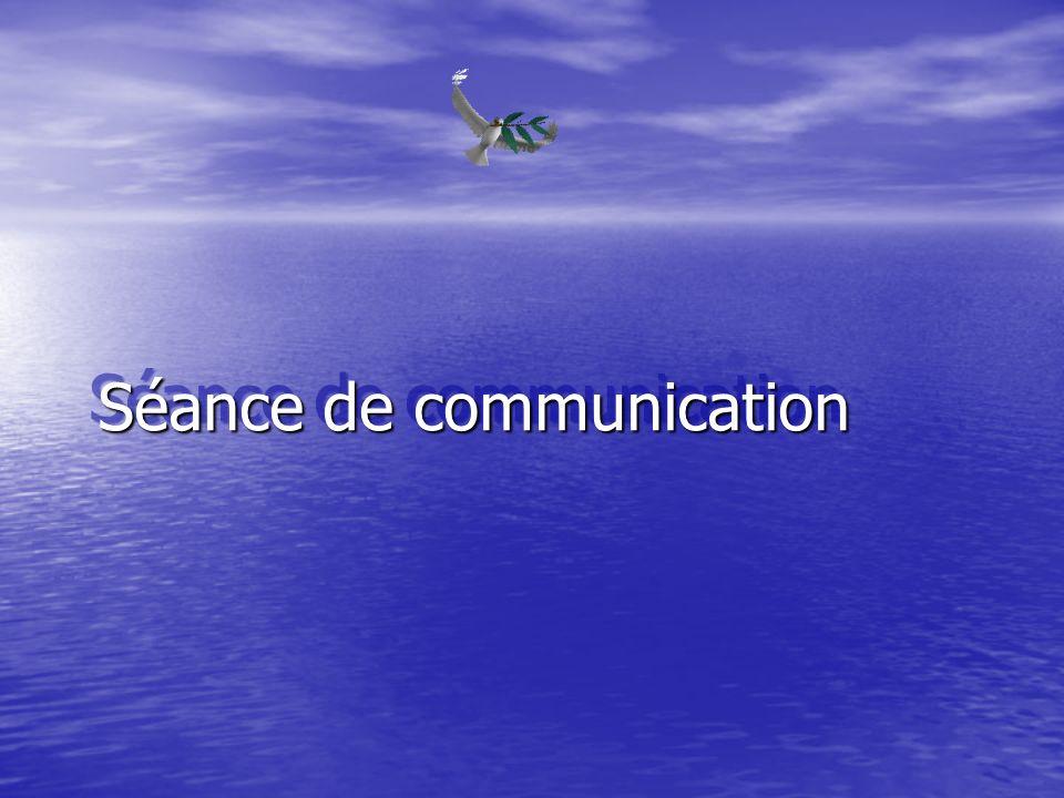 Séance de communication