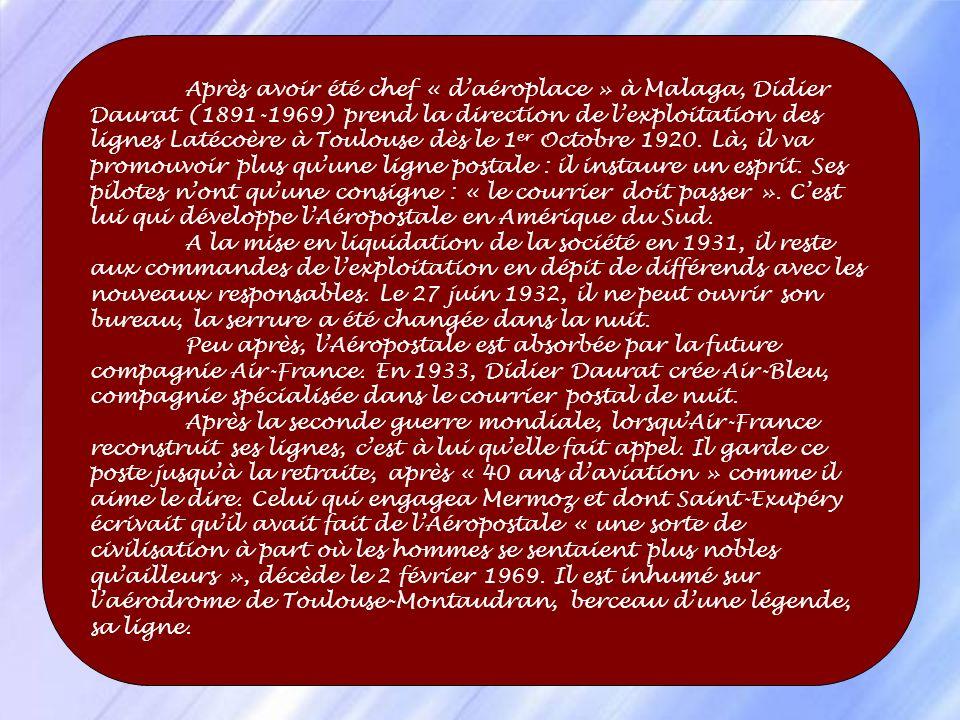 Un Breguet XIV sest écrasé au sud de lEspagne. A ses débuts, la ligne connait une véritable hécatombe. Entre 1920 et 1921, onze pionniers trouvent la