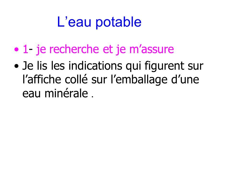 III Traitement des eaux de mer et docéans Leau potable peut être obtenue par dessalement des eaux de mer et docéans selon les principes suivants : La distillation.