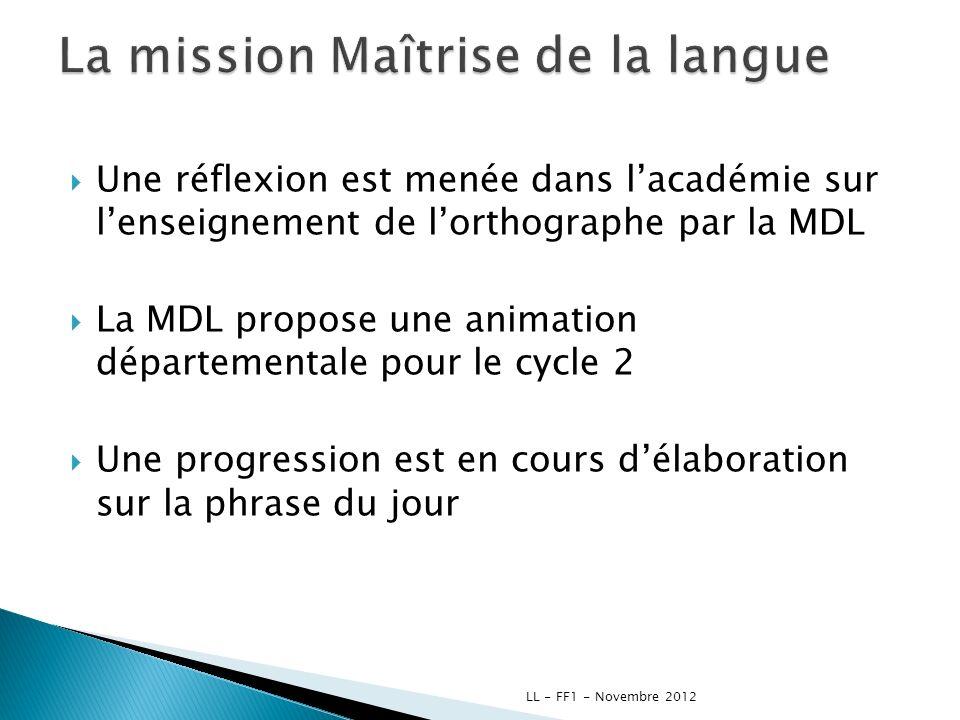 Une réflexion est menée dans lacadémie sur lenseignement de lorthographe par la MDL La MDL propose une animation départementale pour le cycle 2 Une pr