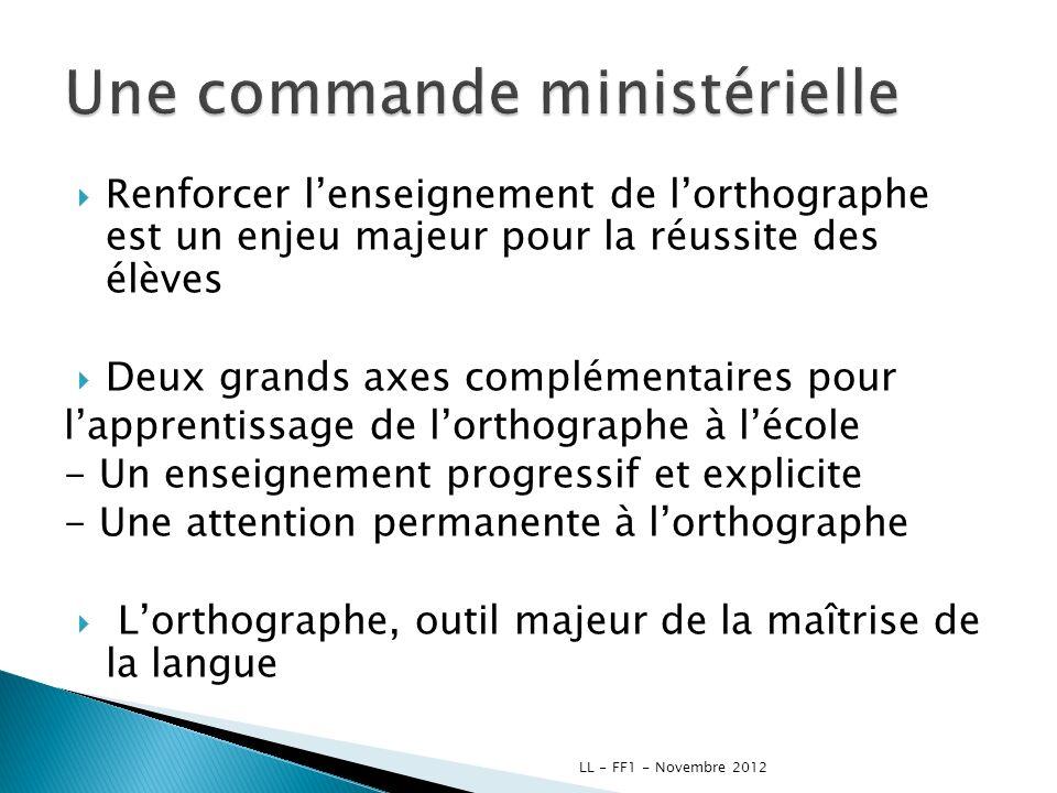 II - Apport théorique et réglementaire LL - FF1 - Novembre 2012