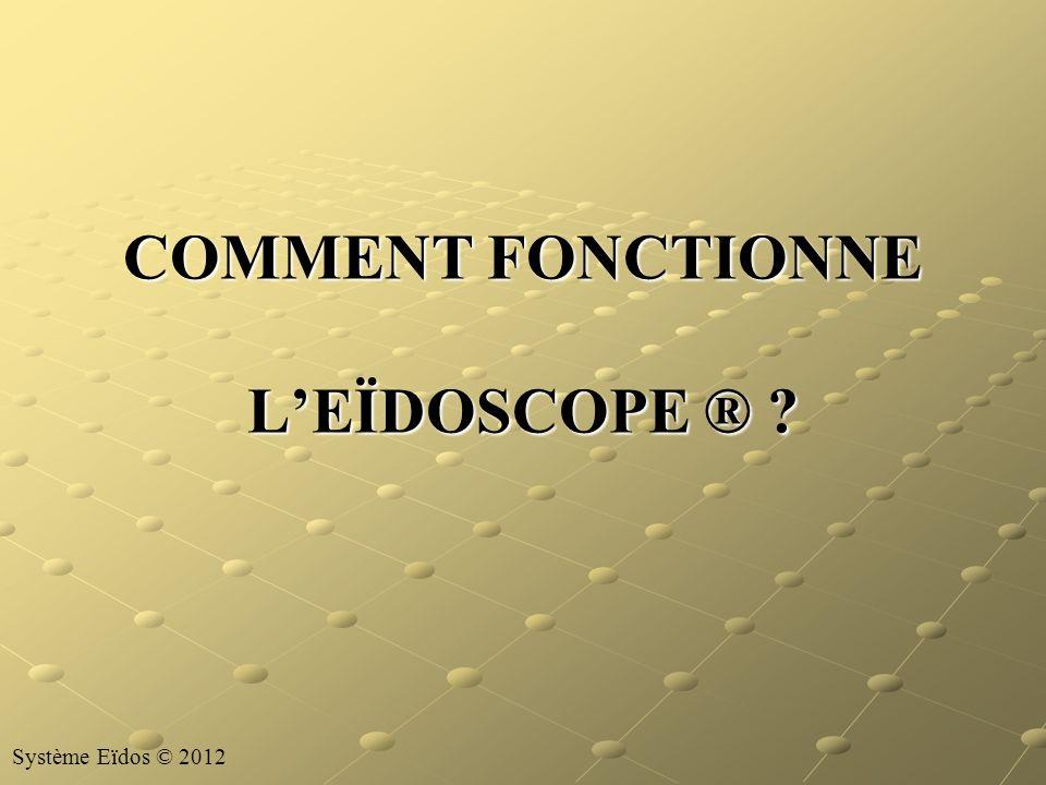 COMMENT FONCTIONNE LEÏDOSCOPE ® ? Système Eïdos © 2012