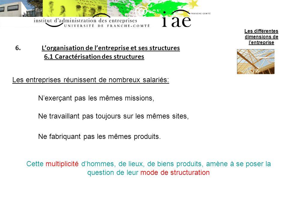 6.Lorganisation de lentreprise et ses structures 6.2 Les structures-types A.