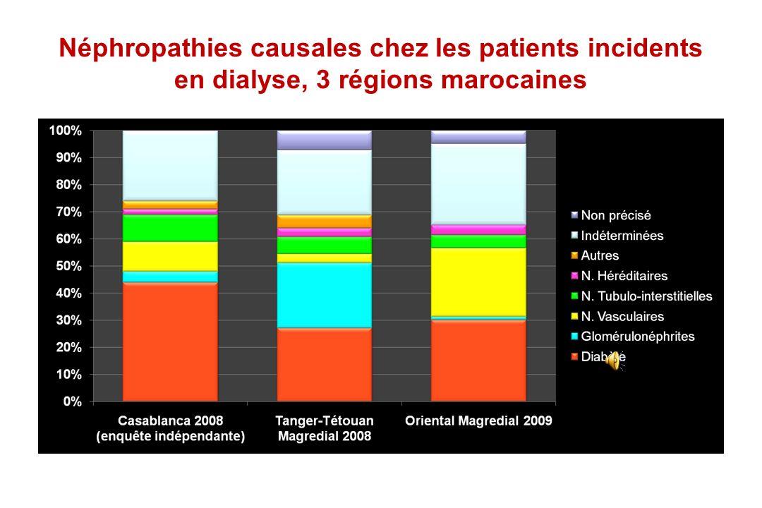 Incidence de lIRCT traitée (pmh) * Maroc: Région Tanger-Tétouan 2008, Région Oriental 2009 (Registre Magredial)