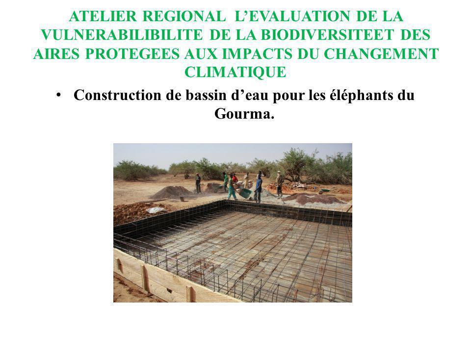 ATELIER REGIONAL LEVALUATION DE LA VULNERABILIBILITE DE LA BIODIVERSITEET DES AIRES PROTEGEES AUX IMPACTS DU CHANGEMENT CLIMATIQUE Construction de bas