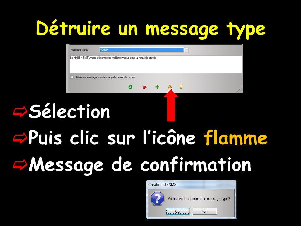 Après sélection des SMS que lon veut envoyer Clic sur envoi