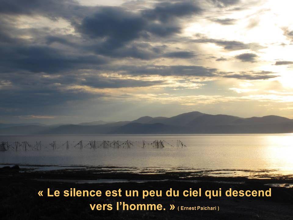 « Le silence est un peu du ciel qui descend vers lhomme. » ( Ernest Paichari )