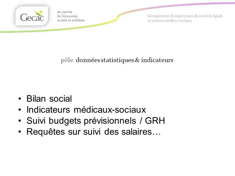 Groupement demployeurs de comités Apajh et centres médico-sociaux pôle données statistiques & indicateurs Au service de léconomie sociale et solidaire