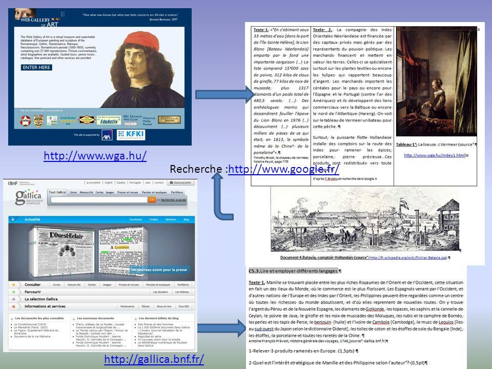 http://www.wga.hu/ http://gallica.bnf.fr/ Recherche :http://www.google.fr/http://www.google.fr/