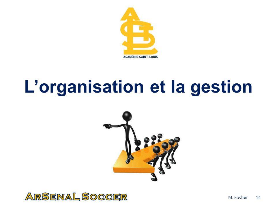 Lorganisation et la gestion 14 M. Fischer