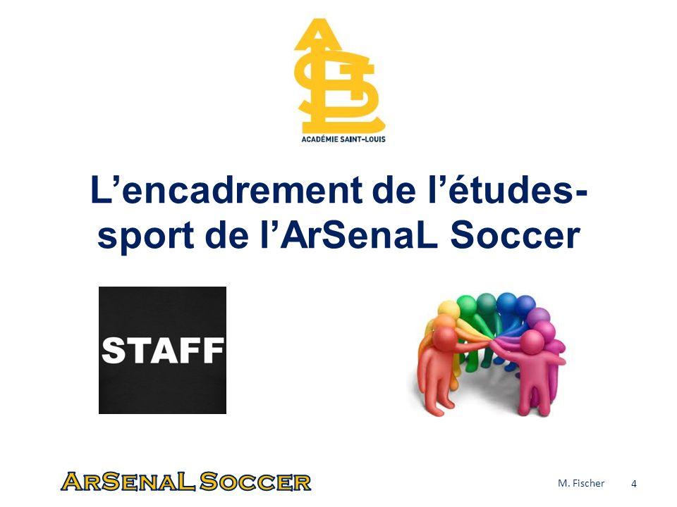 Lencadrement de létudes- sport de lArSenaL Soccer 4 M. Fischer