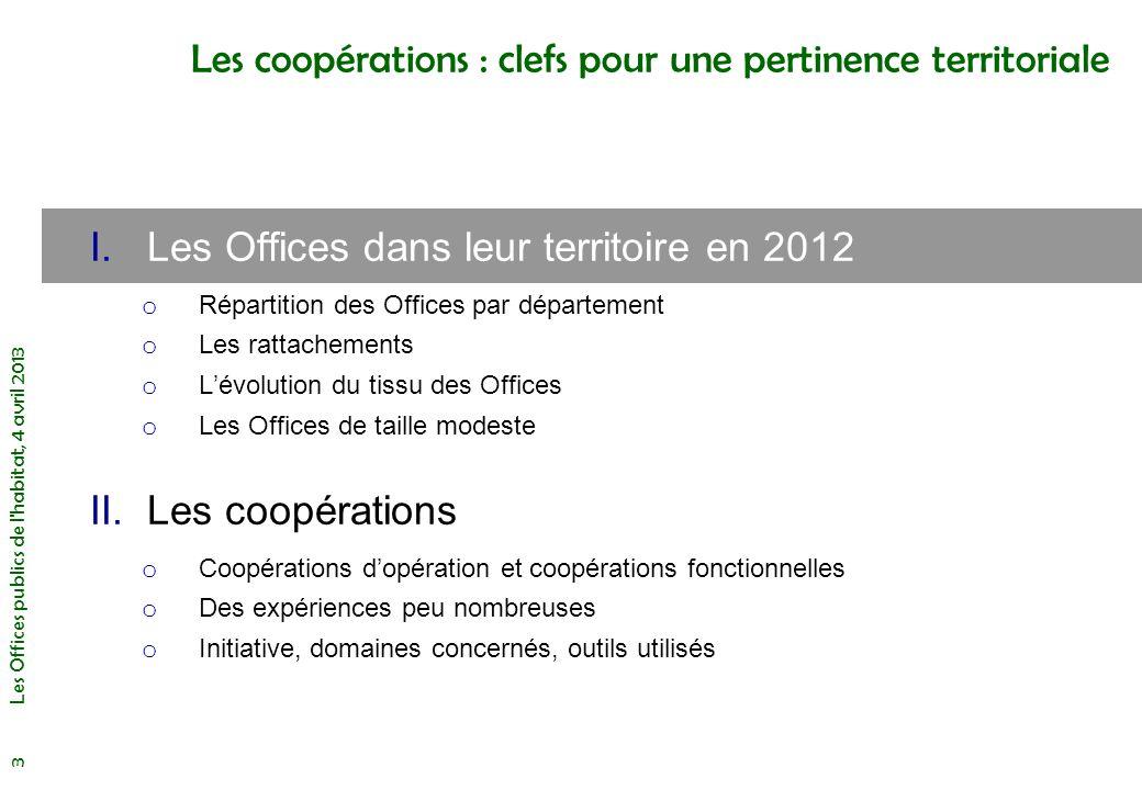 Les Offices publics de l habitat, 4 avril 2013 4 Nombre dOffices par département