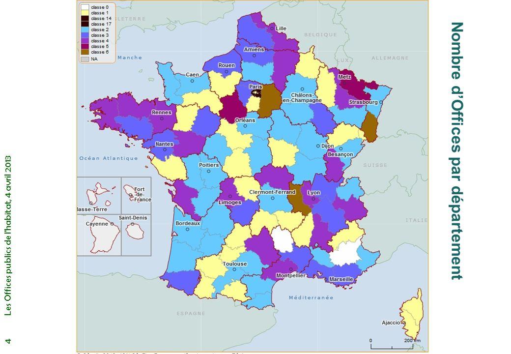 Les Offices publics de l habitat, 4 avril 2013 5 Nombre dOffices en Ile de France