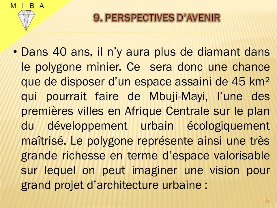 M I B A 24 La mise en œuvre de la stratégie globale basée sur la solution triangulaire des causes de l exploitation artisanale permet d envisager un avenir harmonieux pour la province du Kasaï Oriental en général et la ville de Mbuji-Mayi en particulier et les objectifs ci-après pourraient être atteints :