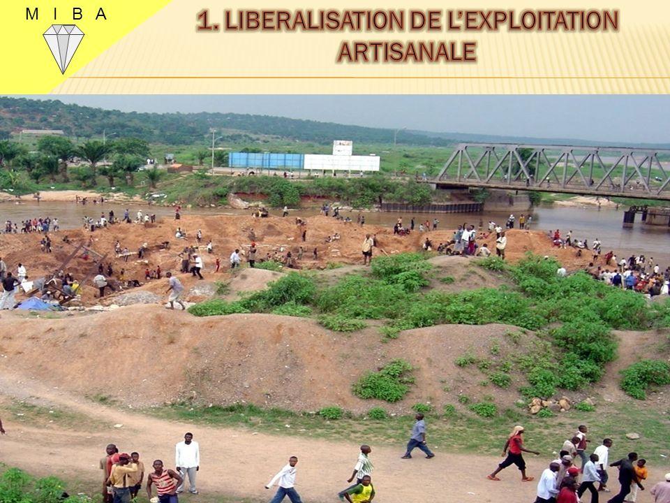 M I B A 3 La population du Kasaï sest ruée sur les ressources géologiques des diamants dans les zones ainsi libéralisées.