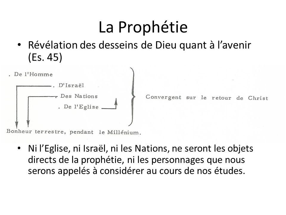 La Prophétie Révélation des desseins de Dieu quant à lavenir (Es.