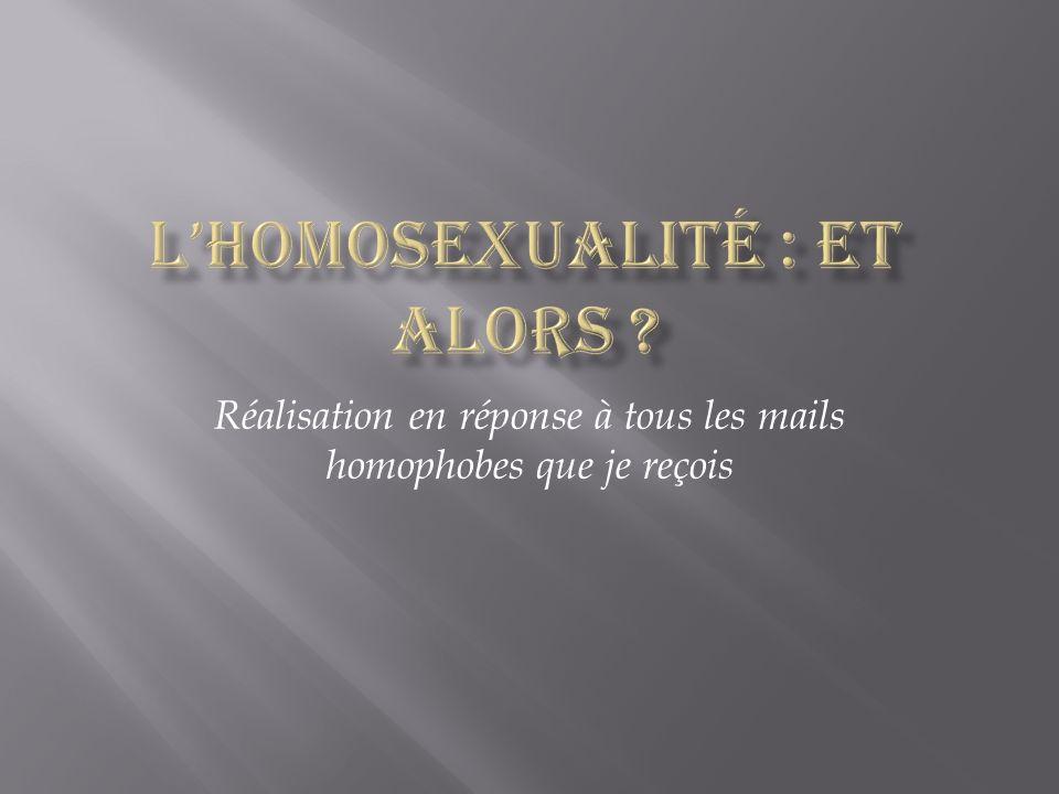 Réalisation en réponse à tous les mails homophobes que je reçois