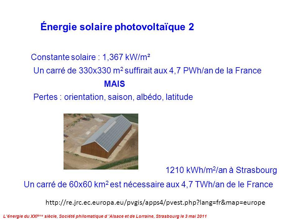 Lénergie du XXI ème siècle, Société philomatique d Alsace et de Lorraine, Strasbourg le 3 mai 2011 Éruption solaire