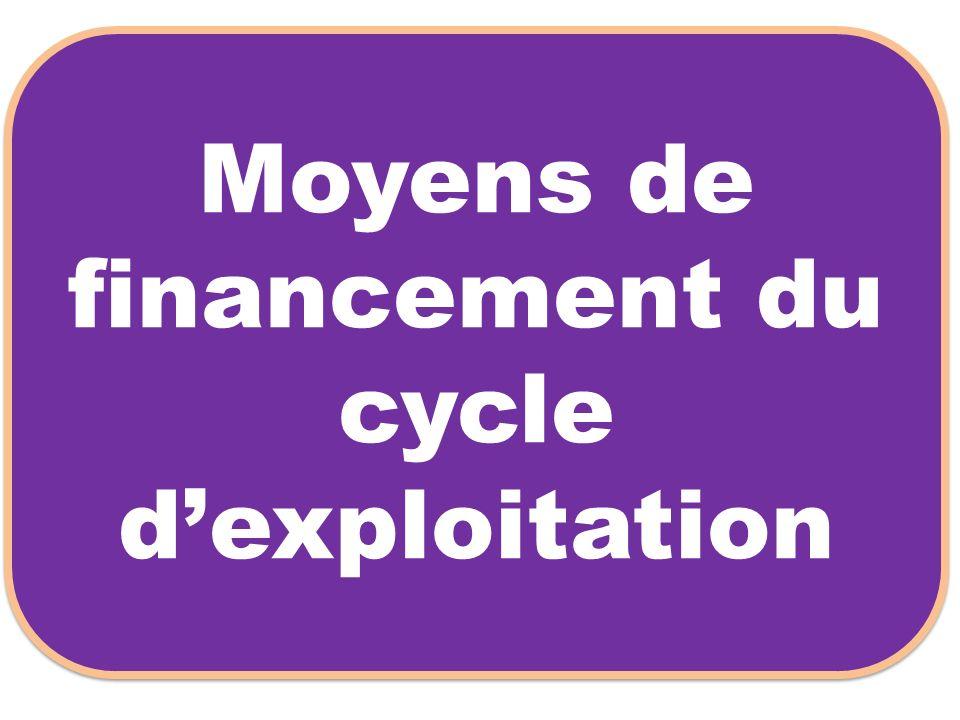 Moyens de financement du cycle dexploitation