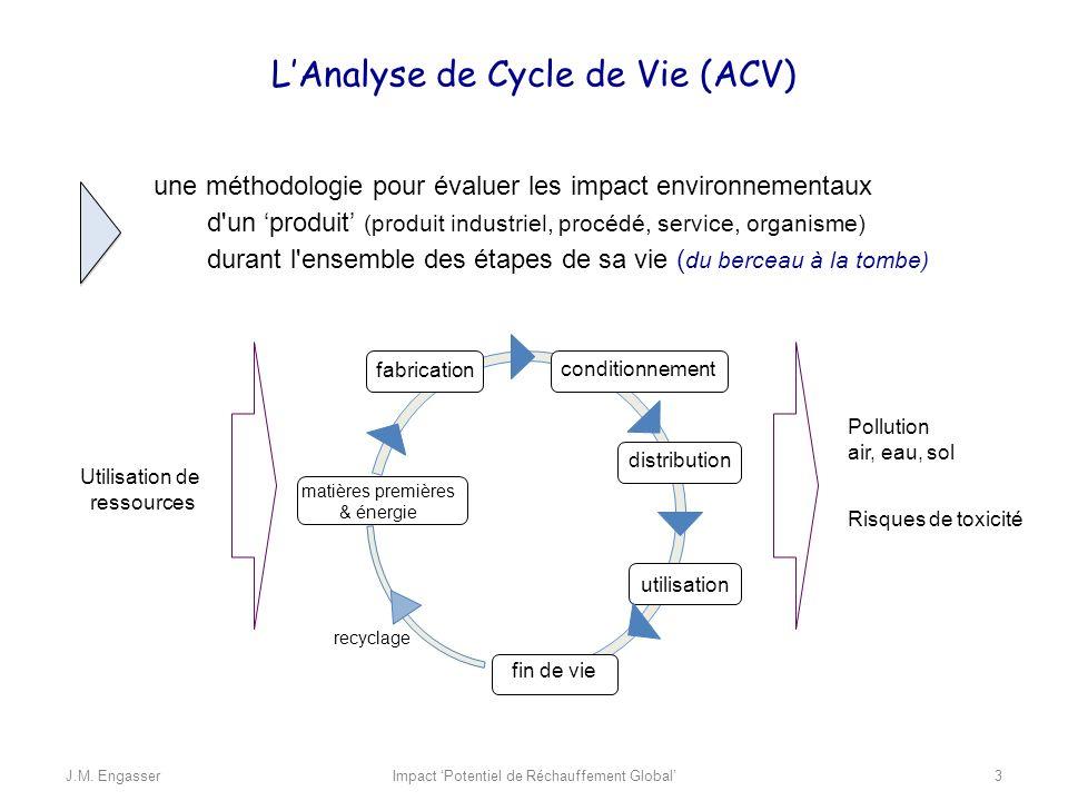 une méthodologie pour évaluer les impact environnementaux d'un produit (produit industriel, procédé, service, organisme) durant l'ensemble des étapes