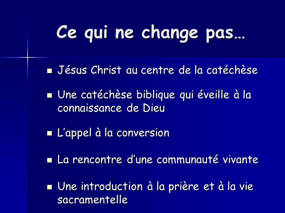 Trois convictions portent la nouvelle orientation - Le mystère Pascal au cœur de lexpérience chrétienne - Une pédagogie dinitiation - Portée par une communauté missionnaire