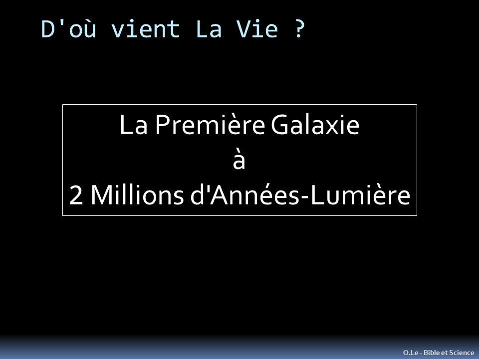 D'où vient La Vie ? O.Le - Bible et Science La Première Galaxie à 2 Millions d'Années-Lumière