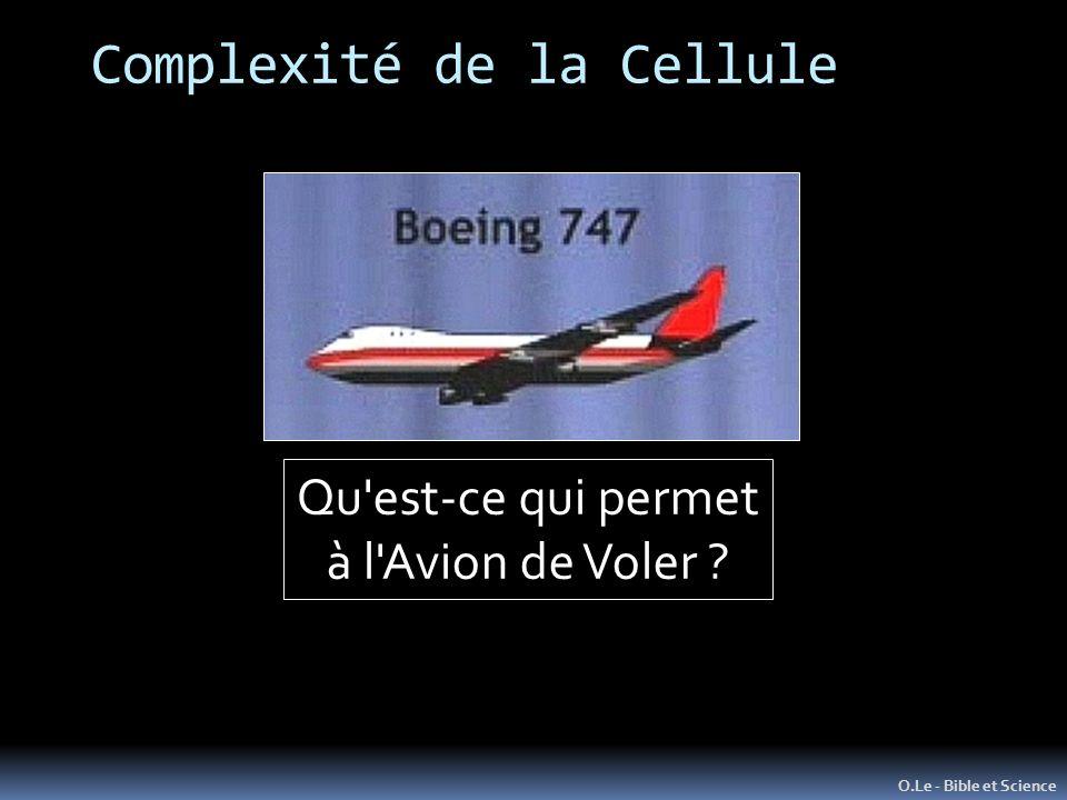 Complexité de la Cellule O.Le - Bible et Science Qu est-ce qui permet à l Avion de Voler ?
