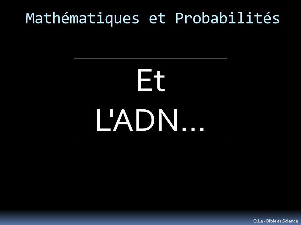 Mathématiques et Probabilités O.Le - Bible et Science Et L ADN…