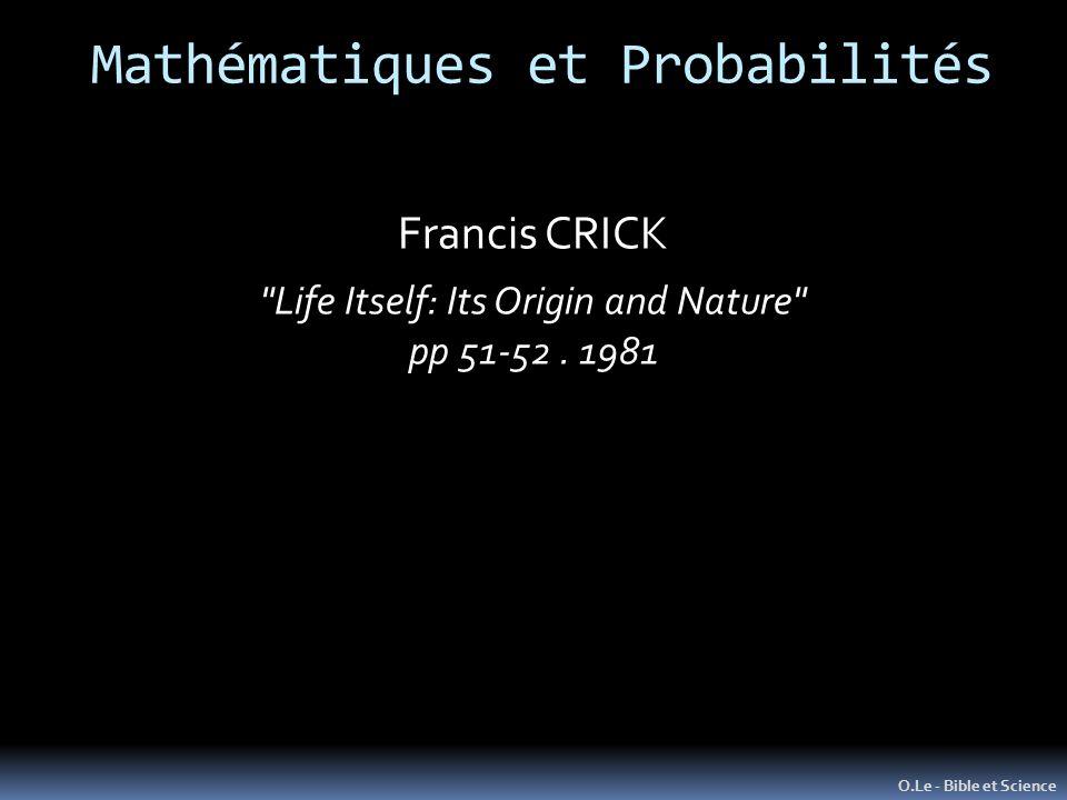 O.Le - Bible et Science Francis CRICK