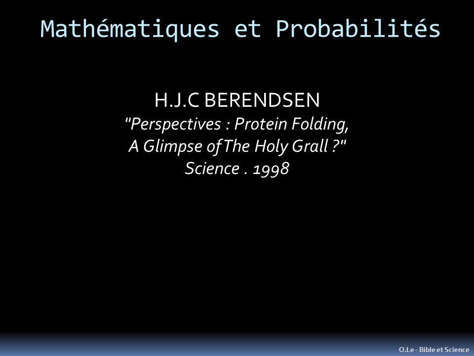 O.Le - Bible et Science H.J.C BERENDSEN