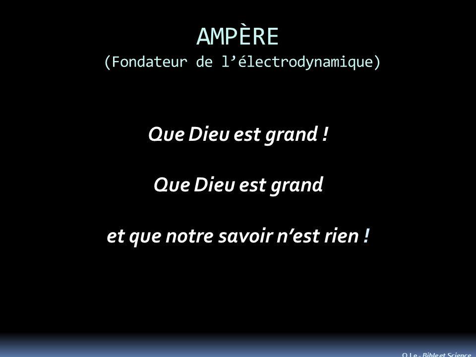 AMPÈRE (Fondateur de lélectrodynamique) Que Dieu est grand .