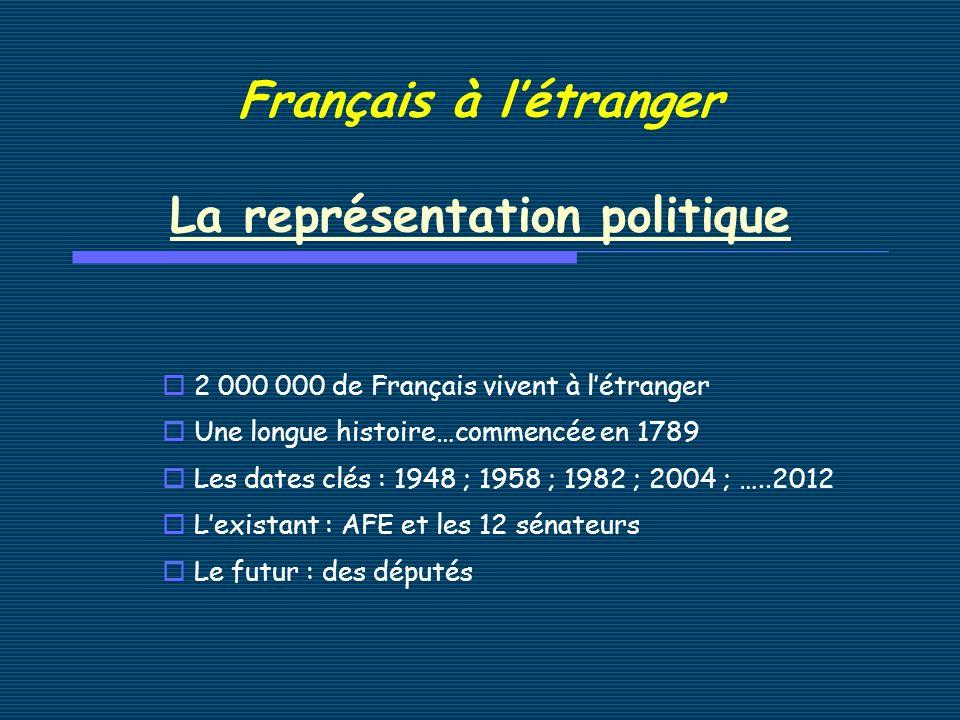 1.LAssemblée des Français de lEtranger : site de lAFE : http://www.assemblee-afe.fr/ Quel est son rôle .