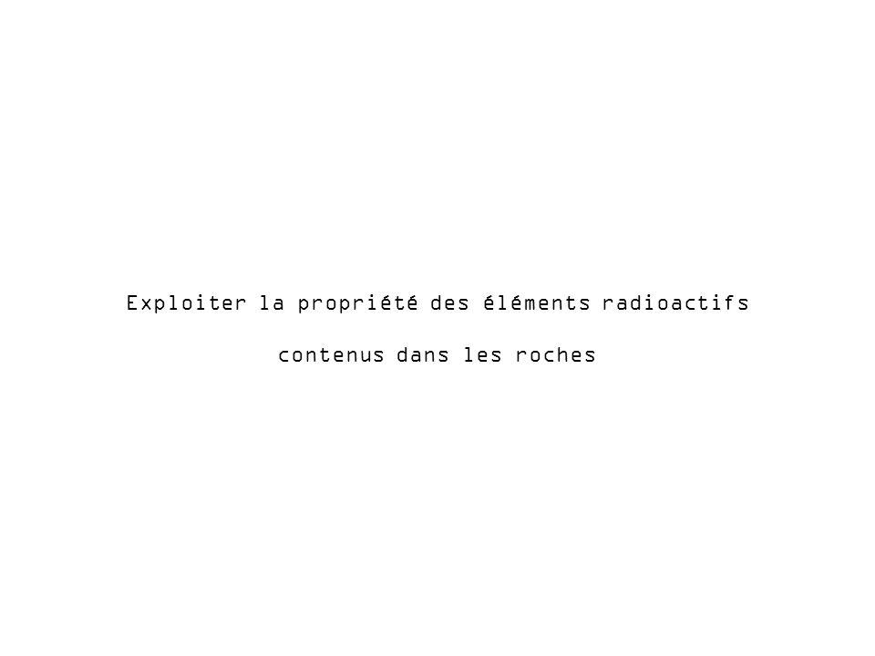 Exploiter la propriété des éléments radioactifs contenus dans les roches