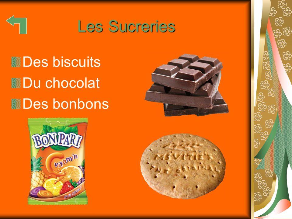 Les Sucreries Des biscuits Du chocolat Des bonbons