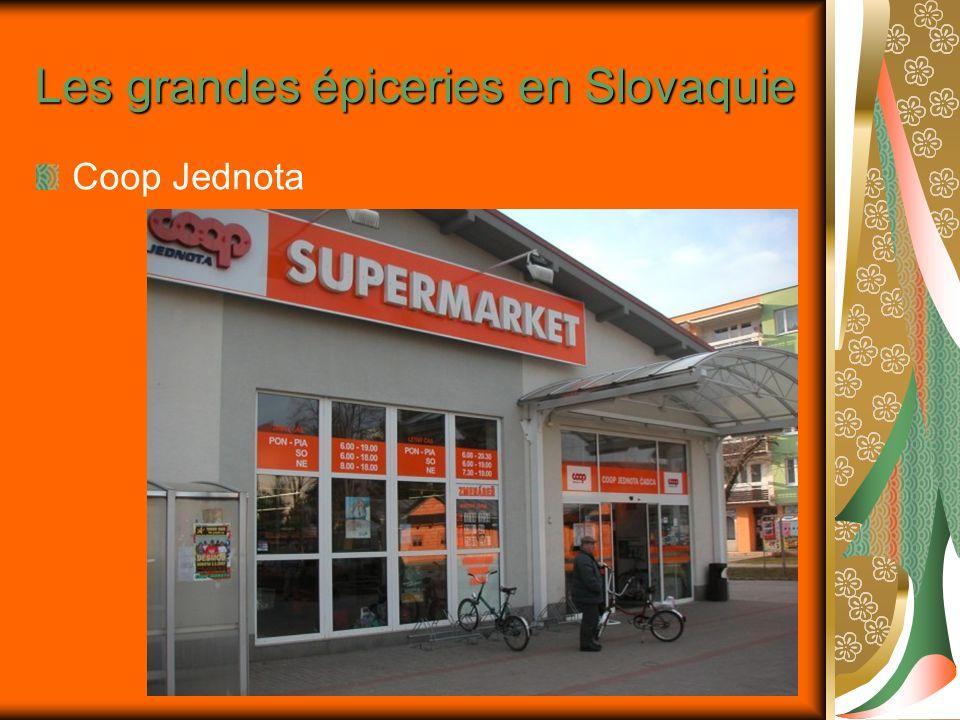 Les grandes épiceries en Slovaquie Coop Jednota