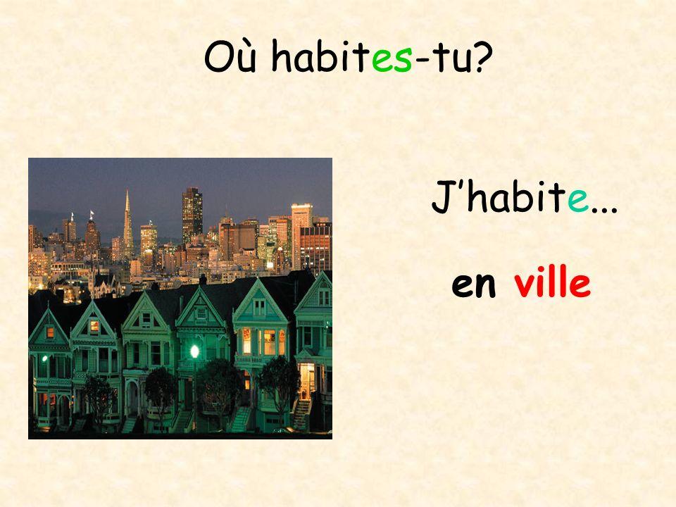 Où habites-tu? à la montagne Jhabite...