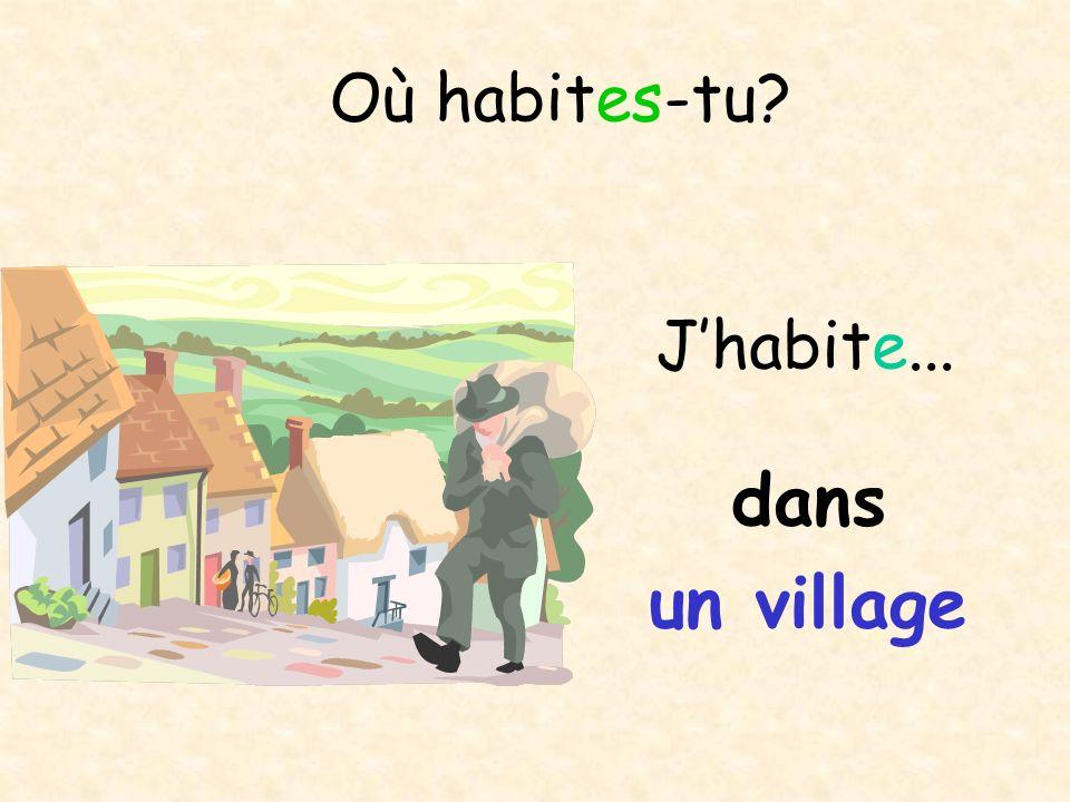 Où habites-tu? en ville Jhabite...