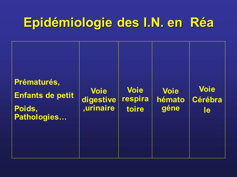 Epidémiologie des I.N.