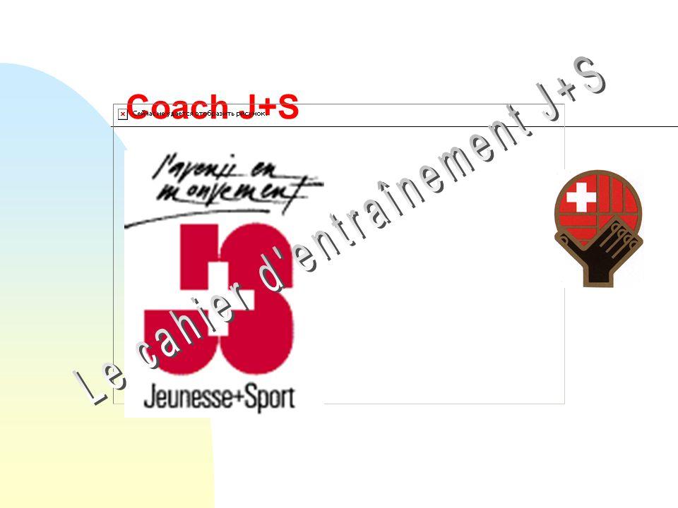 04.2002 / CarrardFormation des coaches J+S Instrument du moniteur Outil de travail de tous les jours Planification et suivi Documentation Contrôle