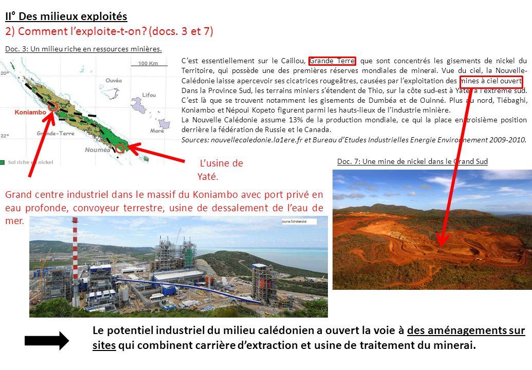 Cest essentiellement sur le Caillou, Grande Terre, que sont concentrés les gisements de nickel du Territoire, qui possède une des premières réserves m