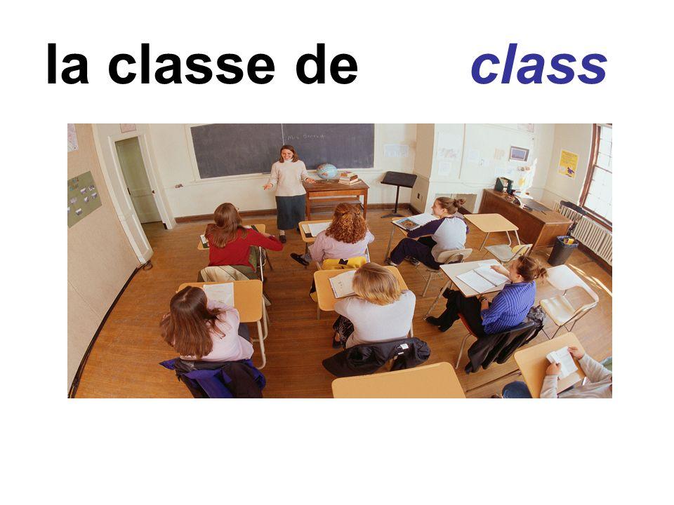 la classe de class