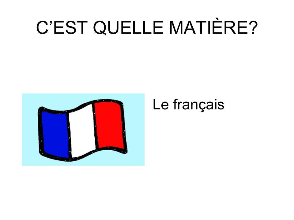CEST QUELLE MATIÈRES Langlais