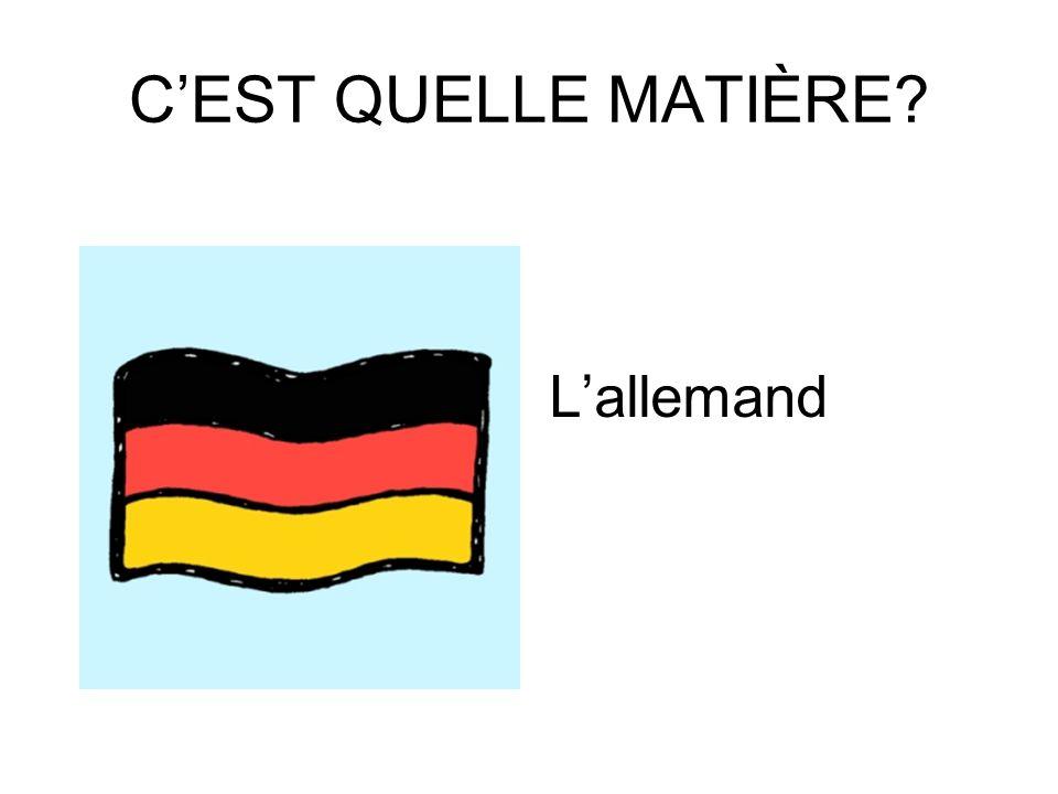 CEST QUELLE MATIÈRE? Le français