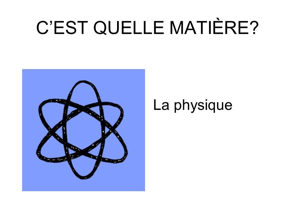 CEST QUELLE MATIÈRE Les maths