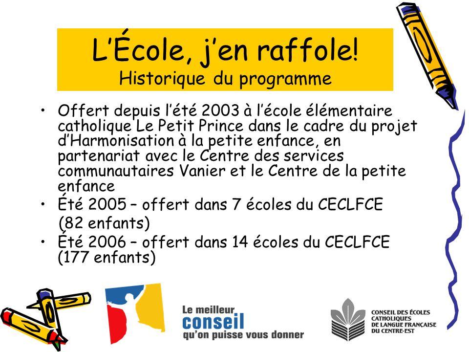 Offert depuis lété 2003 à lécole élémentaire catholique Le Petit Prince dans le cadre du projet dHarmonisation à la petite enfance, en partenariat ave