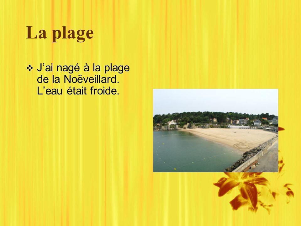 La plage Jai nagé à la plage de la Noëveillard. Leau était froide.