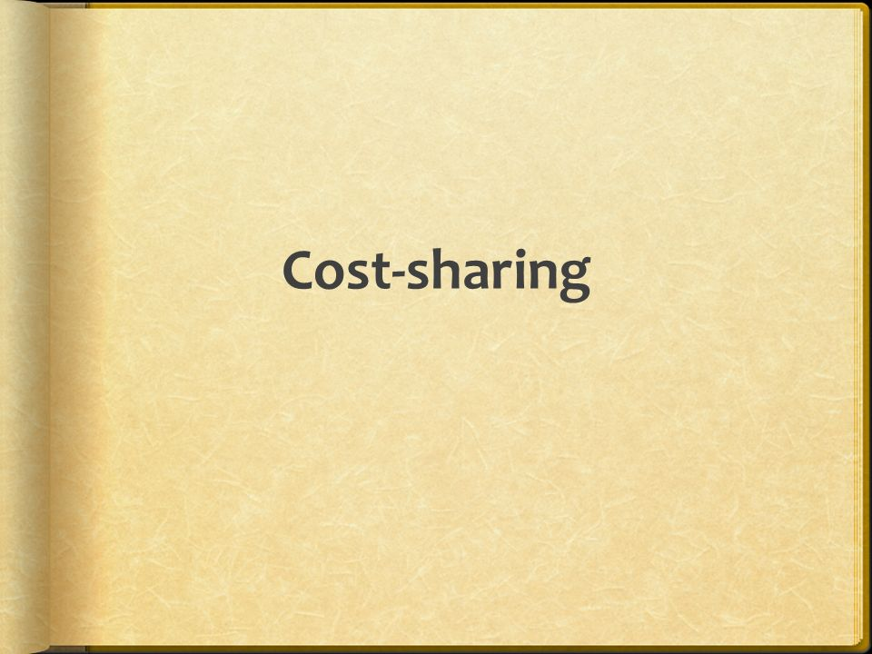 Cost-sharing
